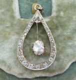 Fabulous 18ct gold and silver Georgian rose cut Diamond vintage antique pendant